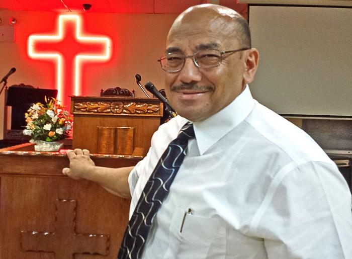 Norberto Carrero, pastor of Iglesia Cristiana Torrente de Cedron (718-542-4671). Photo: Tony Carnes/A Journey through NYC religions