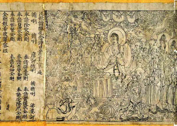 Chinese religion was shaped by the Silk Road. Christianity also became a Chinese religion through this pathway. The earliest printed book that still exists is the Buddhist Diamond Sutra, dated  689 AD, that was  found at Dunhuang on the Silk Road.