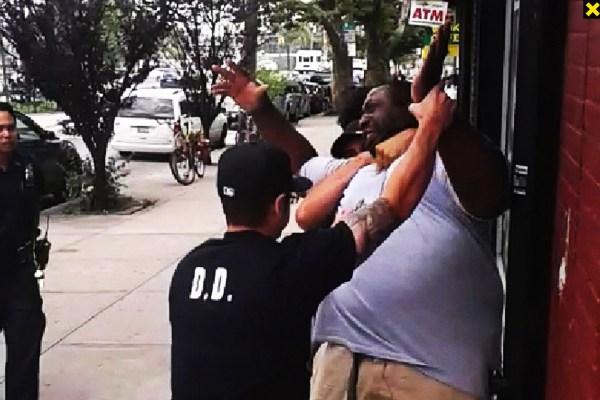 Eric Garner in chokehold by policeman