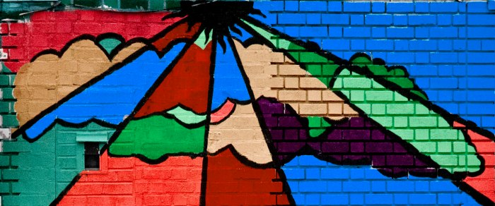 Detail from mural next to Prince of Peace Missionary Baptist Church, Jamaica, Queens. Photo: Tony Carnes/A Journey through NYC religions