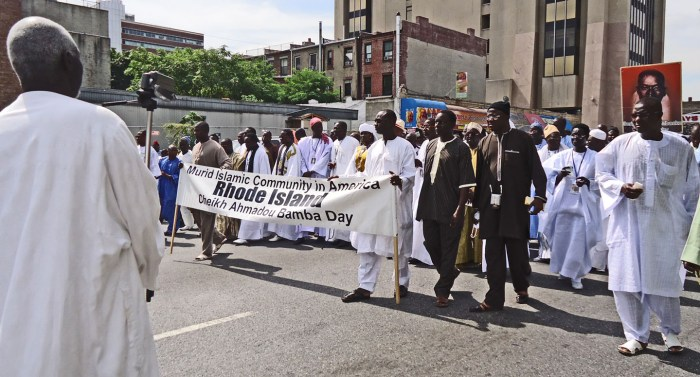 Murid Muslim parade in Harlem. Photo: Melissa Kimiadi/A Journey through NYC religions