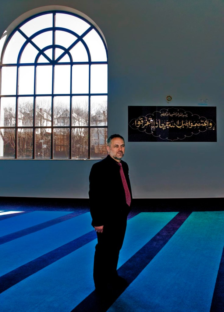 Portrait of Imam Tahir Kukaj in the Albanina Cultural Center, Staten Island. By Tony Carnes/A Journey through NYC religions