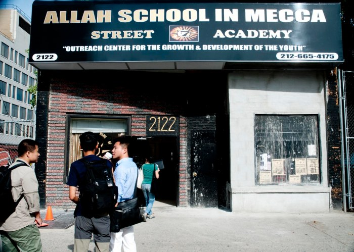 Five Percenter school in Harlme. Photo: Tony Carnes/A Journey through NYC religions
