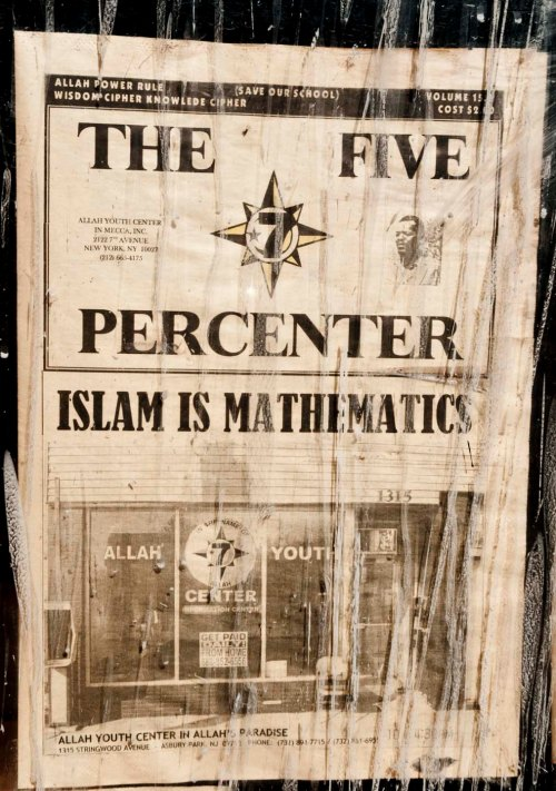 The Five Percenter Mathematics is Islam poster