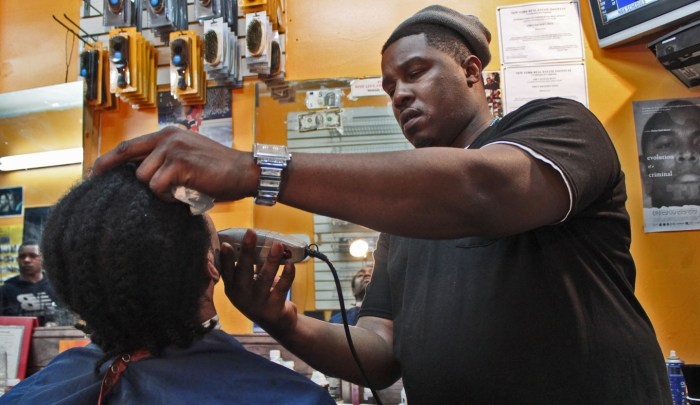 Barber Delon Love shapes heads and minds. Photo: Pauline Dolle/A Journey through NYC religions