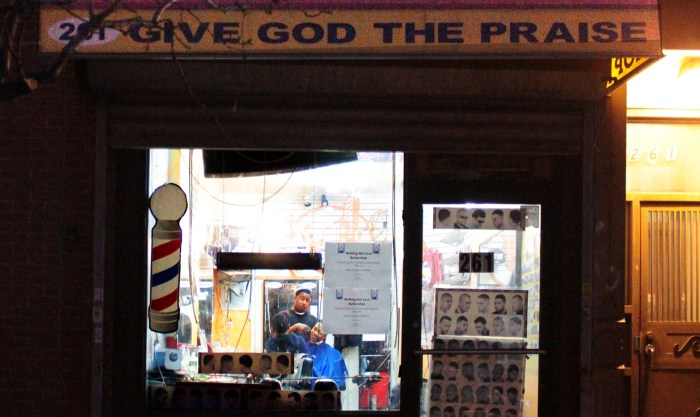 Love Barbershop, BedStuy, Brooklyn. Photo: Pauline Dolle/A Journey through NYC religions