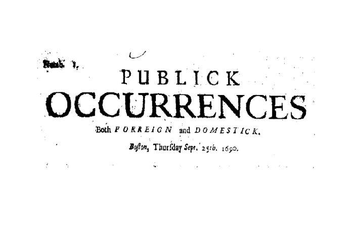 Publick Occurrences