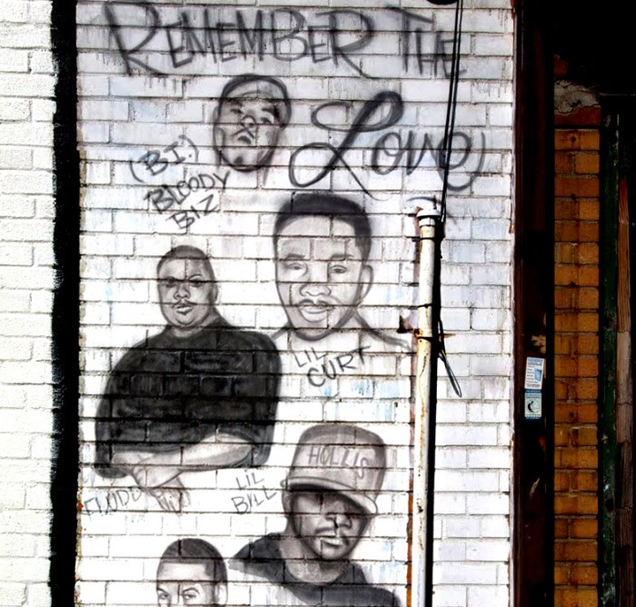"Mural of fallen ""Street Gods,"" New York City."