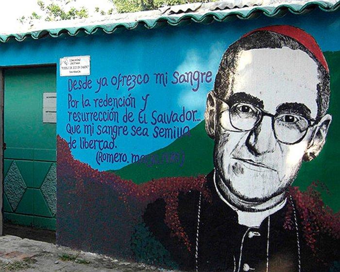 Romero mural in El SalvadorE copy