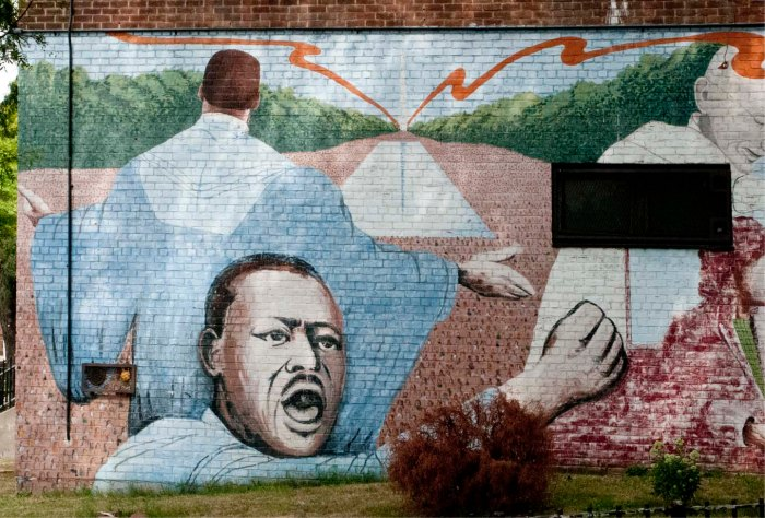 Mural of Reverend Martin Luther King, Jr. in Astoria, Queens