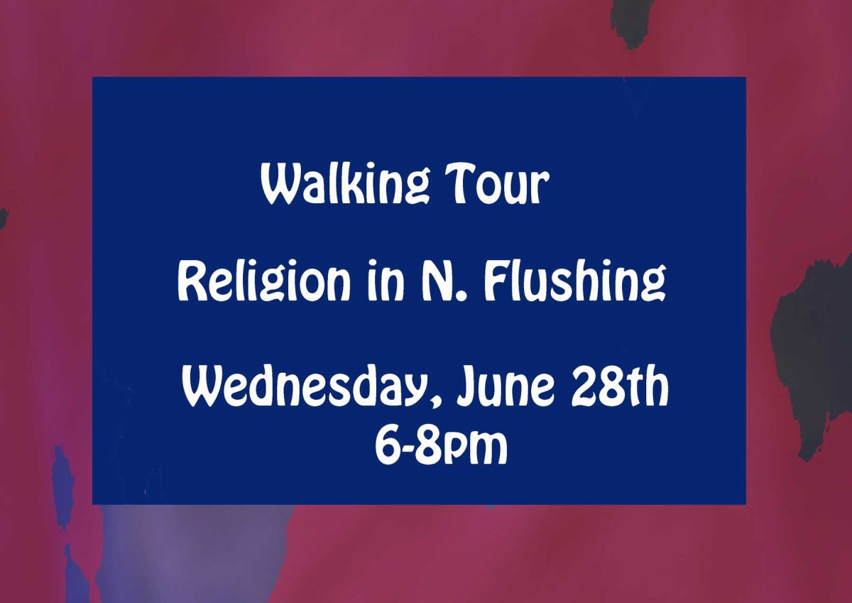 BILLBOARDS -- Wed Tour of Flushing religions. Brooklyn Interfaith Breakfast today