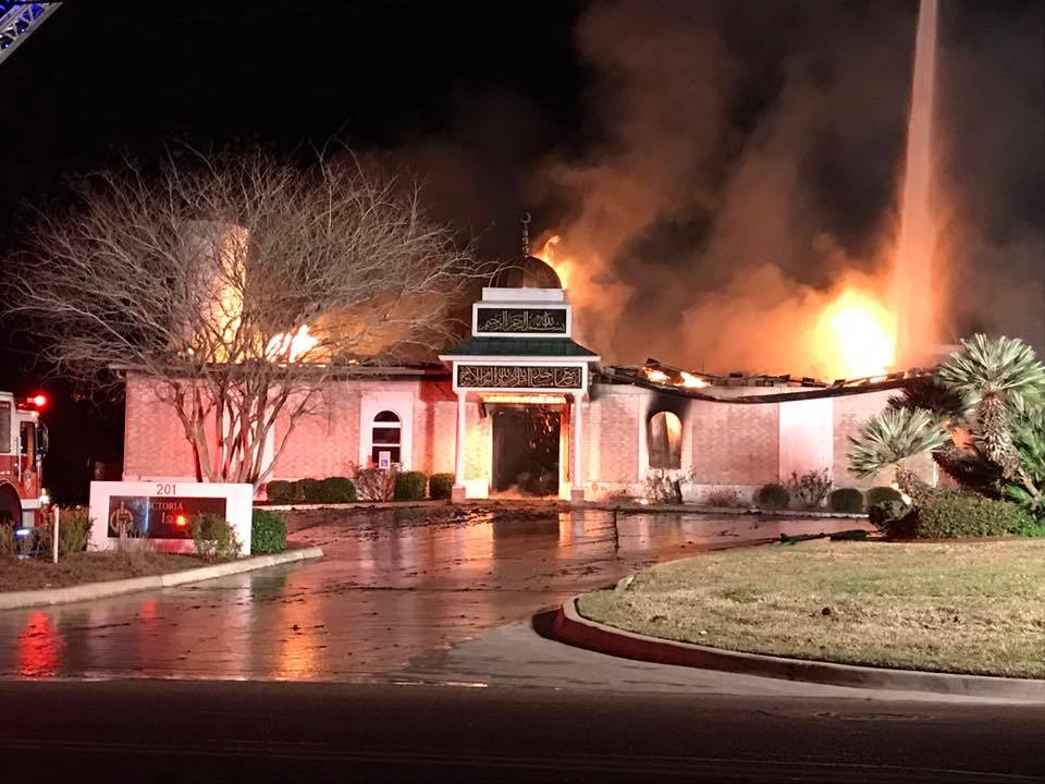 Sunday News --  Victoria, Texas mosque burned down, Muslims worry what's next. Journey finalist for award.