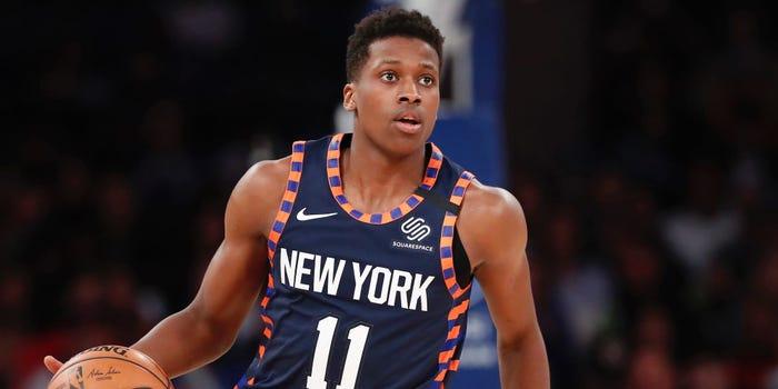 Frank Ntilikina, formo parte de los New York Nets