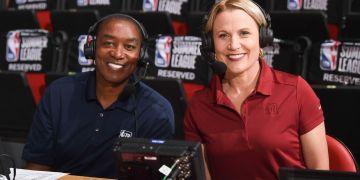 Lisa Byington, primera mujer anunciante de la NBA