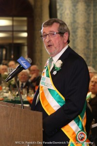 Michael Dowling Addresses the crowd at the Installation Reception