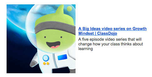 ClassDojo Big Ideas Video Series - Growth Mindset