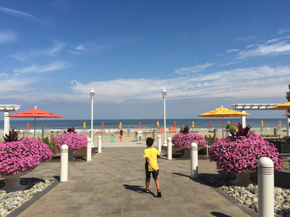 Perfect views of Lake Erie from Hotel Breakers