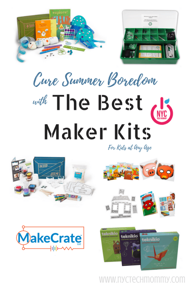 Cure summer boredom with the best maker kits - sure to keep kids engaged, learning & having fun all summer long!