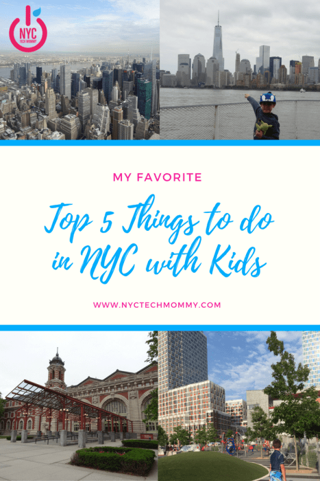 Here are my favorite top 5 things to do with kids in NYC! Some are FREE because you don't have to break the bank to explore this amazing city #nyc #nyckids #visitnyc