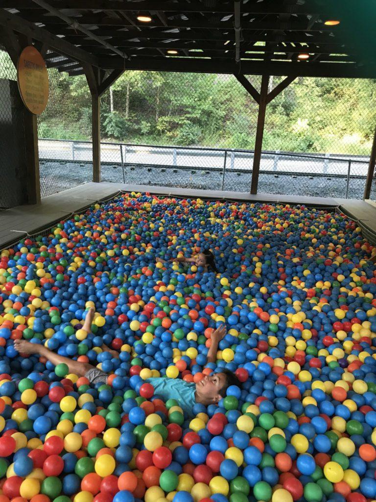 Knoebels ball pit