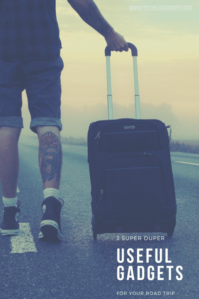 Here's 3 super duper useful gadgets for your road trip, no matter your destination!  #travel #gadgets #travelgadgets #traveltips #summertravel