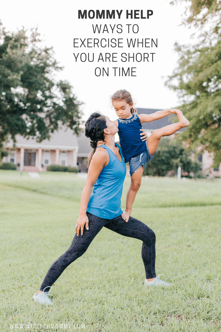 Check out these tips on ways to exercise when you are short on time!  #exercise #momfitness #fitnesstips #exerciseformom