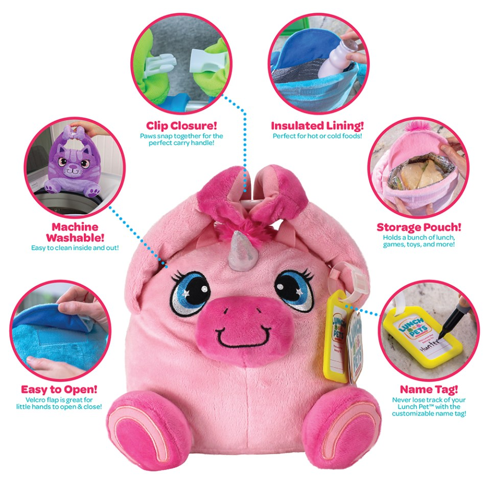 Lunch Pets make huggable lunchtime buddies for little kids! #BackToSchool