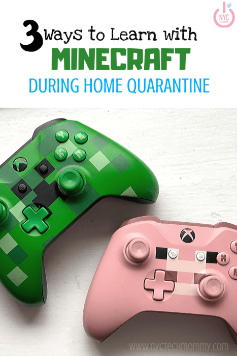Stuck at indoors homeschooling the kids? Here are three fun ways to learn with Minecraft during home quarantine -- sure to win you some cool mom points!