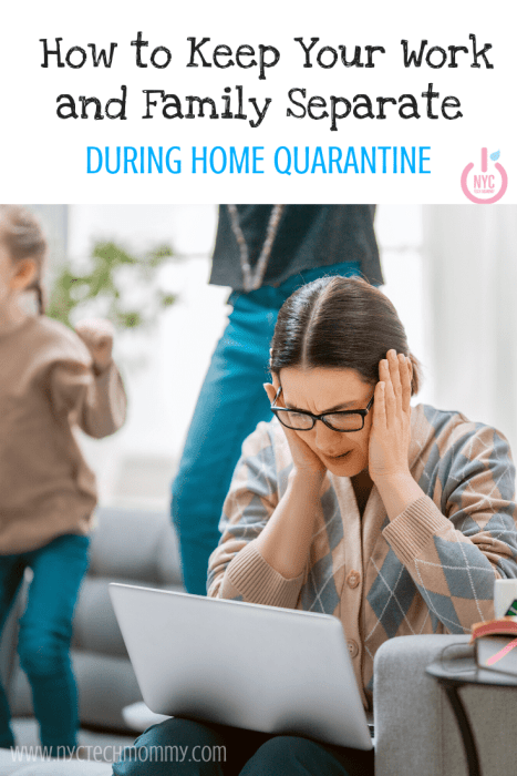 Keeping work and family separate will be challenging. Use these tips to avoid stress and stay positive. Here's how to keep your work and family separate during home quarantine... #stayhome #homequarantine #workathome #workingfromhome