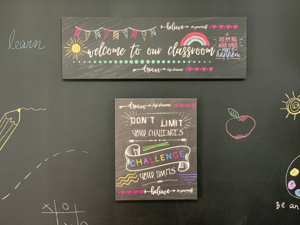 How to set up a learning space at home - FREEE WALL ART printables