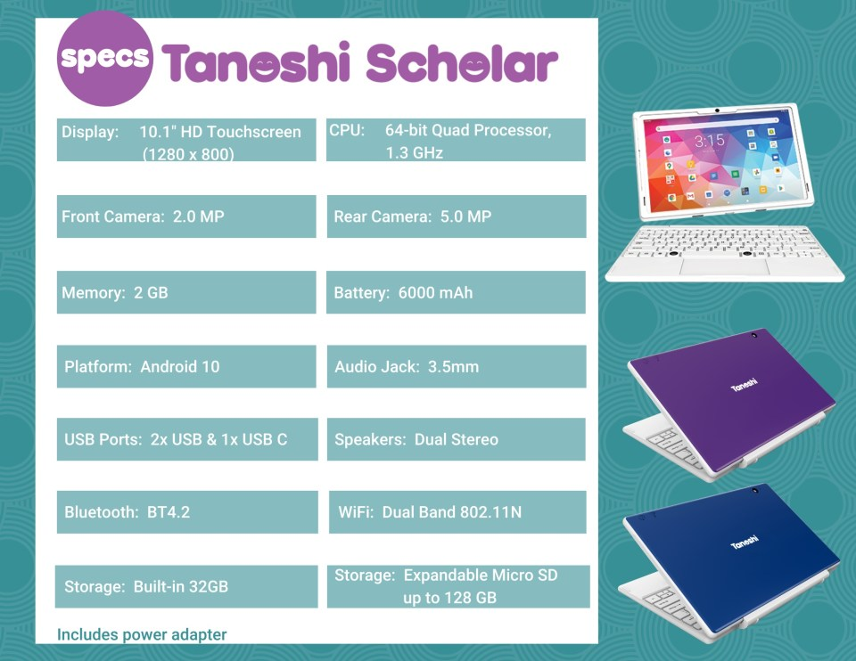 My favorite tech for Kids and Family - Tanoshi Scholar - 2-in-1 laptop and tablet for kids