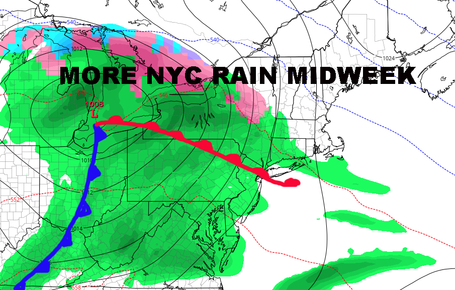 NYC MODERATE RAIN MID WEEK