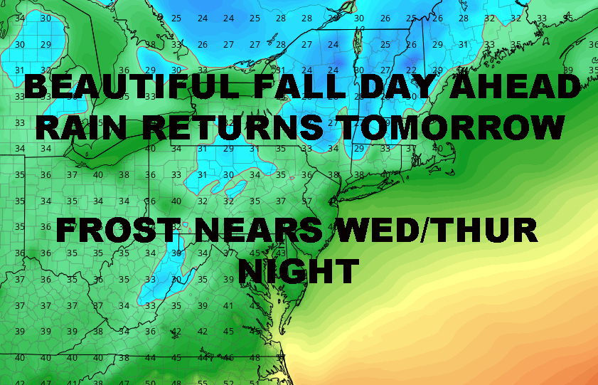 BEAUTIFUL NYC SUNDAY RAIN RETURNS TOMORROW