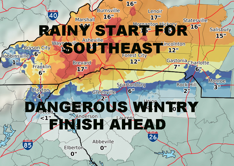 WINTER STORM INNOCUOS RAINY START BEGINS