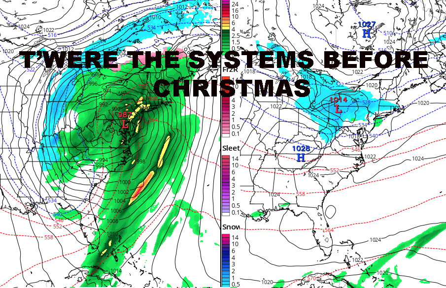 NYC FROZEN PRECIP POSSIBLE TOMORROW NIGHT PLUS CHRISTMAS OUTLOOK