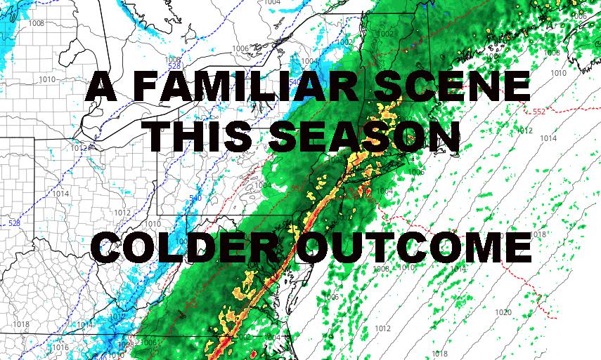SOAKING RAIN EXPECTED NYC COLD AIR MODIFIES