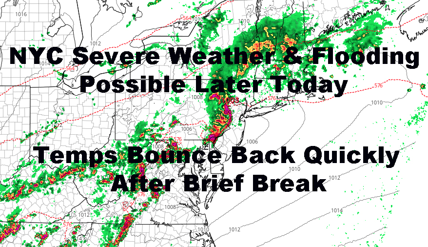 NYC Flooding Severe Weather Issues Before Brief Temp Break