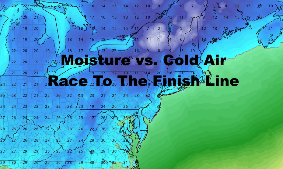 NYC Moisture Versus Cold Air Game Again