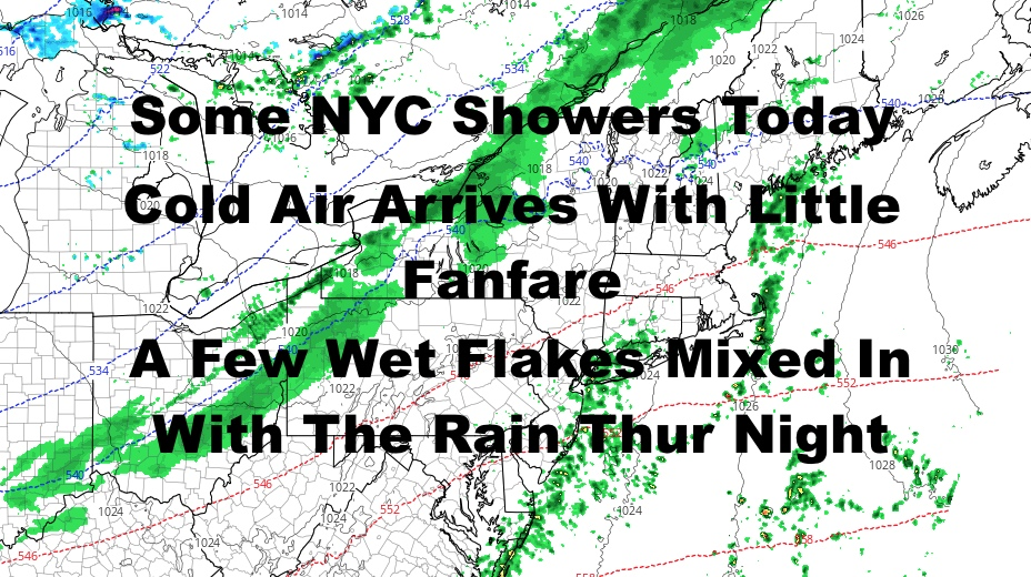 Showery Day Today Cold Air Arrives Thursday Night