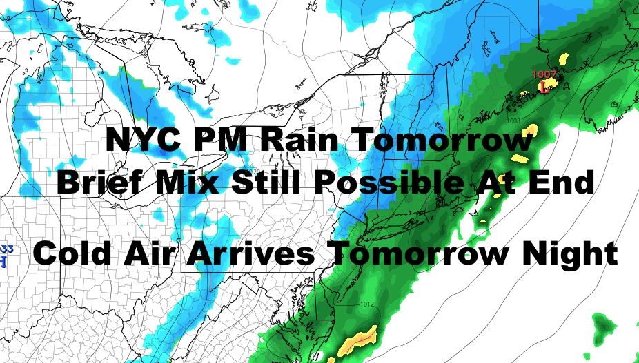 NYC Cold Air Moving Along Questions Arise Next Week