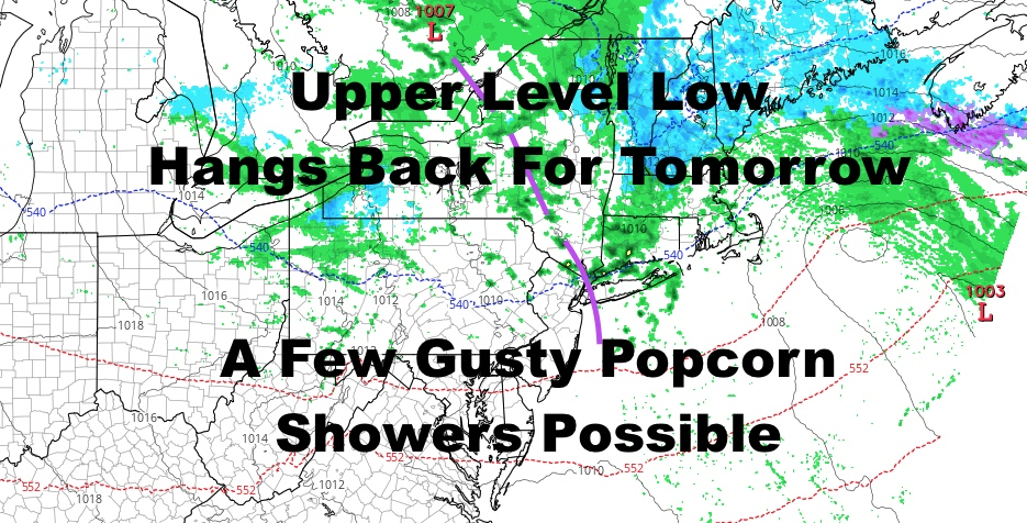 NYC Occasional Rain Today Scattered Gusty Showers Tomorrow