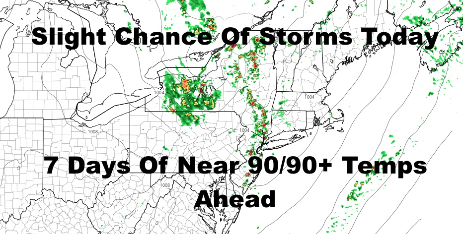 Tropical Storm Fay Departs With More Hot Weather Entering NYC