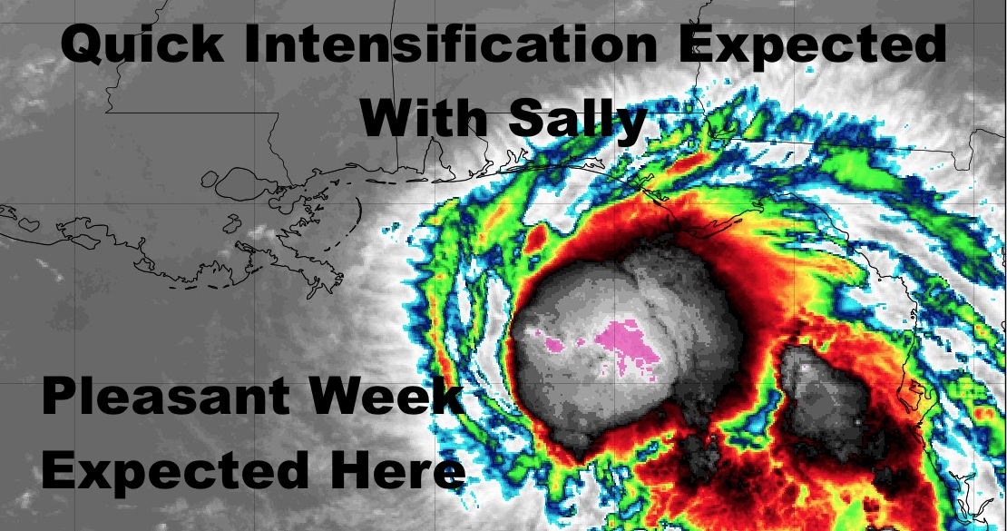 Sally Takes Aim At Eastern/Central Gulf & Crisp Air Expected This Weekend Here