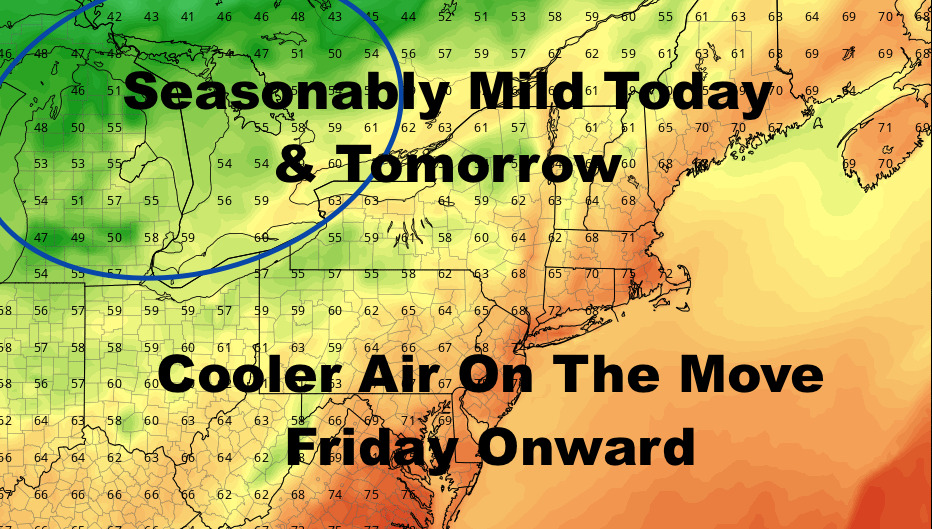 NYC Clearing & Breezy Today Cool Air Arrives Friday