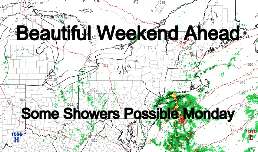 Beautiful NYC Weekend Clouds & Showers Possible Monday