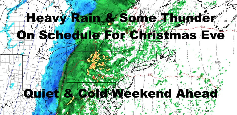 NYC Heavy Rain On Schedule For Christmas Eve