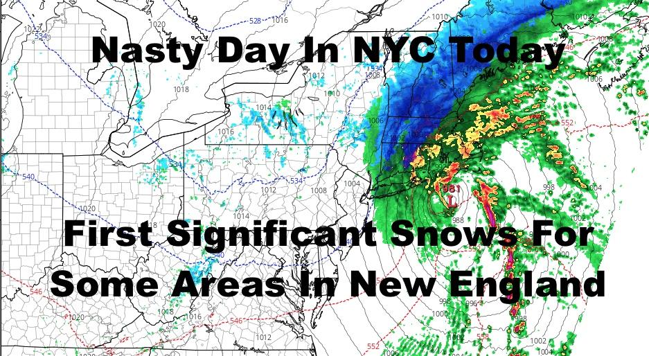 Coastal Storm Brings Nasty Day & New England Snows