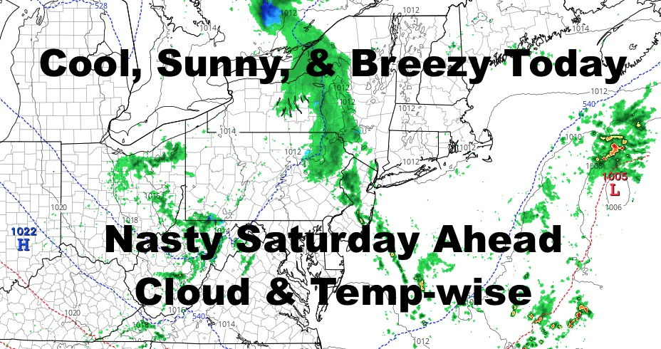 NYC Breezy Cool Day Today Raw Saturday Ahead