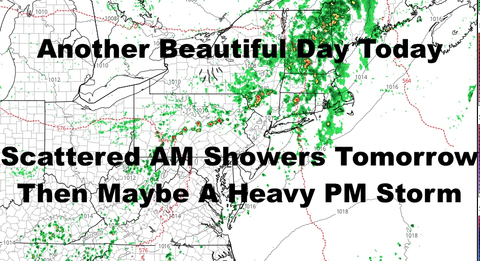NYC Beautiful Encore Today Severe Weather Possible Tomorrow Evening
