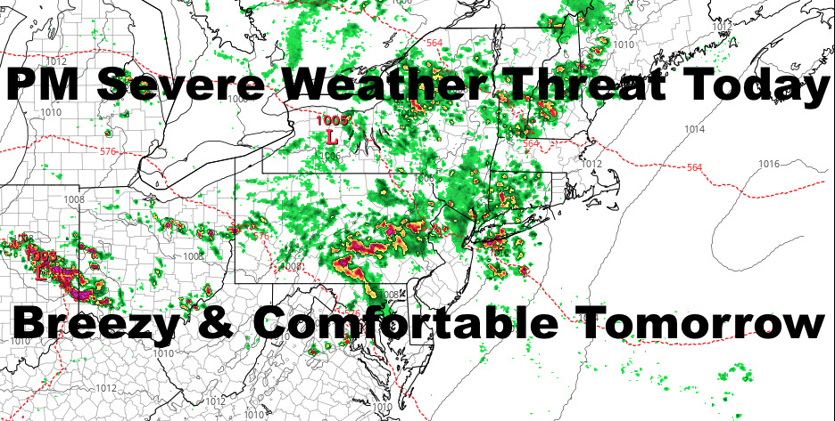 NYC Summer Takes Break After Today's Severe Weather Threat